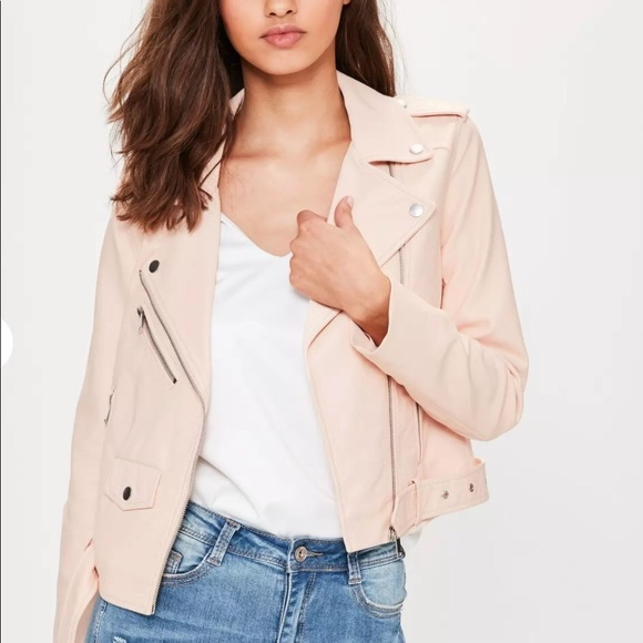 ad1f4196b2 Missguided Jackets & Coats | Nwt Nude Faux Leather Biker Jacket ...
